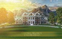 Colonial mansion 1 (render)