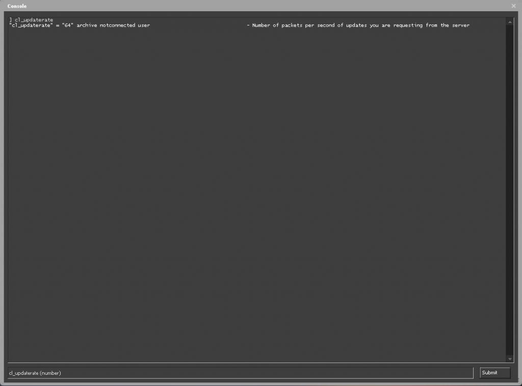 csgo cl_updaterate command