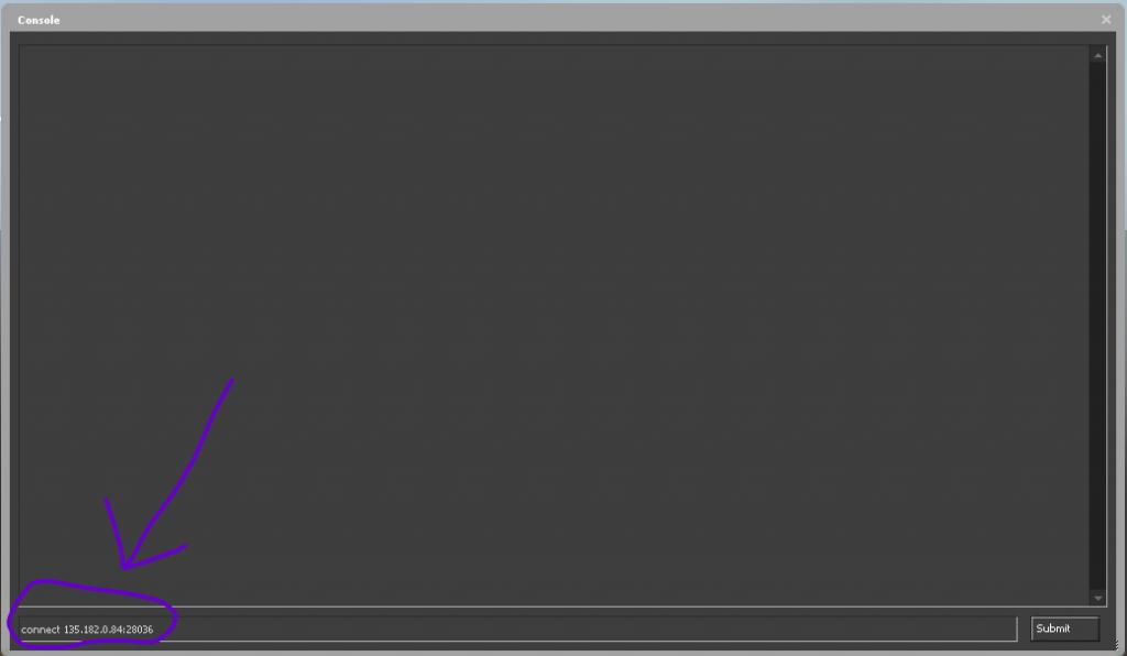 csgo console connect to csgo hosting server ip