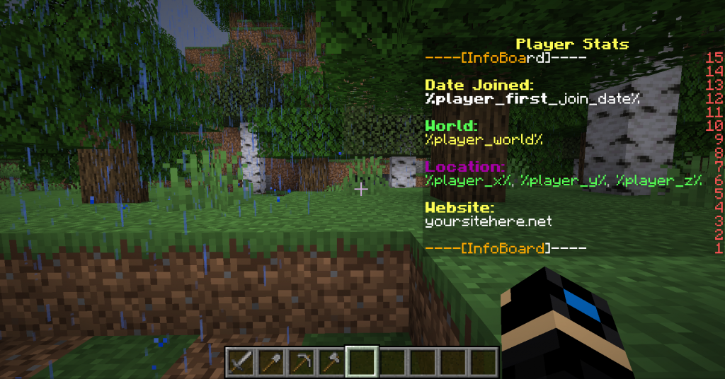 Joined my Minecraft server for the first time.