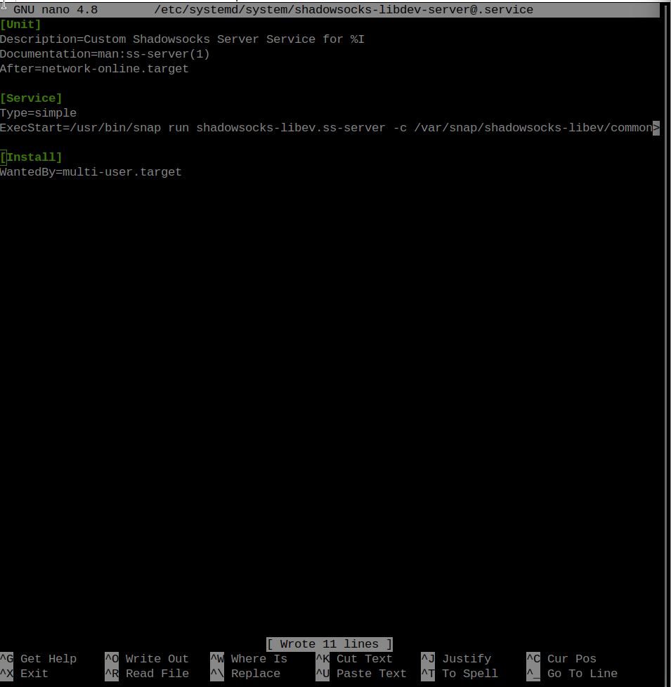 ShadowSOCKS service file